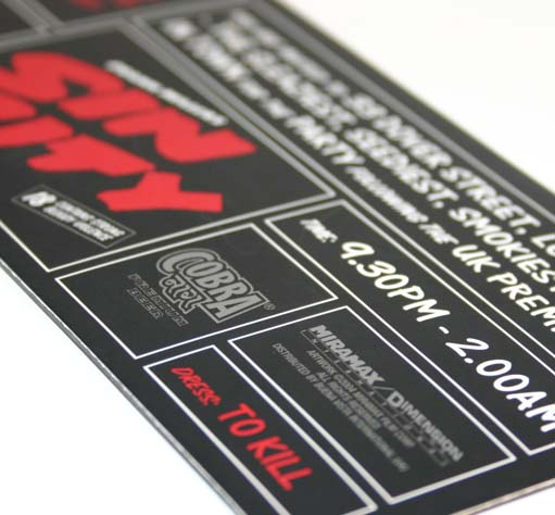 Printed PVC Invitations
