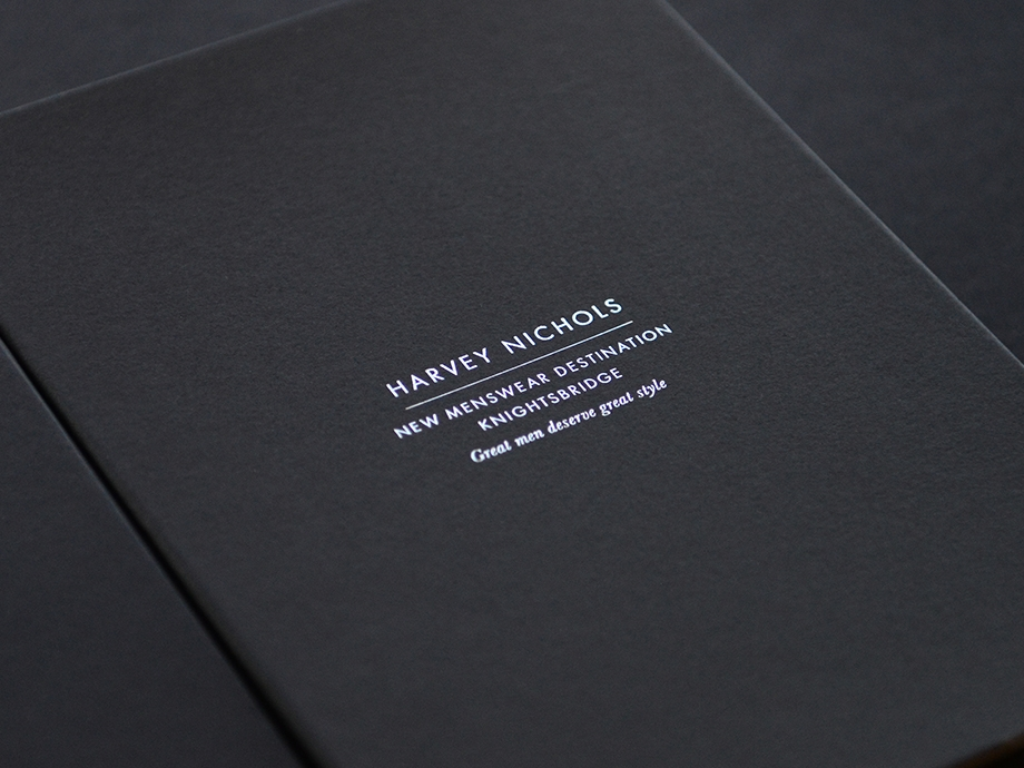 Harvey Nichols personalised packaging