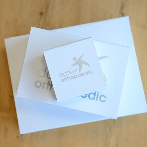 Dorset Orthopaedic personalised packaging