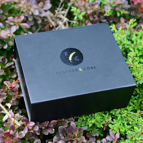 Feather and Coal Personalised packaging