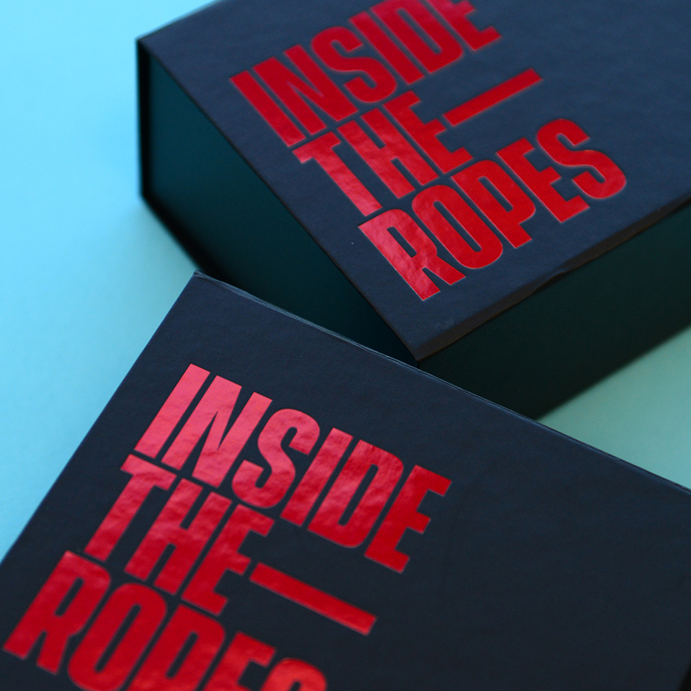 Inside the ropes personalised packaging