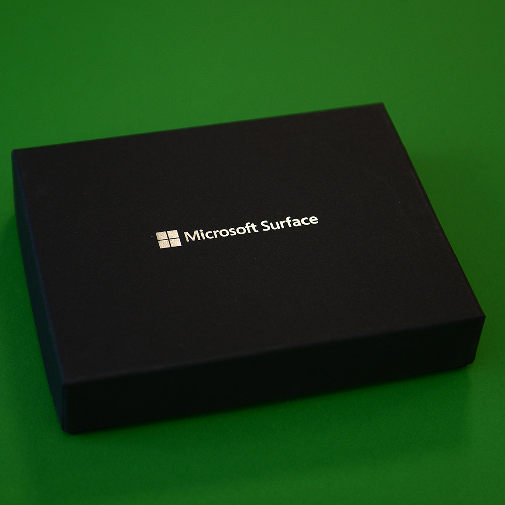 Microsoft Surface personalised packaging