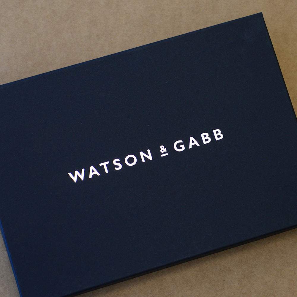 Watson and Gabb Personalised packaging